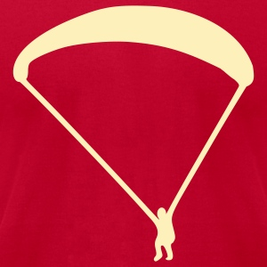Brown Paraglider T-Shirts - Men's T-Shirt by American Apparel