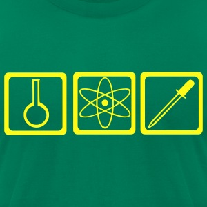 Kelly green Chemist - laboratory - Science T-Shirts - Men's T-Shirt by American Apparel