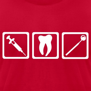 Red Dentist - Teeth T-Shirts - Men's T-Shirt by American Apparel