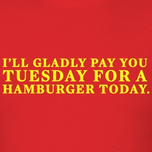 Red Hamburger Tuesday T-Shirts - Men's T-Shirt