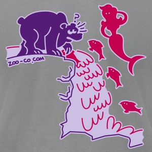 Slate Surprised Bear T-Shirts - Men's T-Shirt by American Apparel