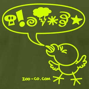 Olive Rude Chicken T-Shirts - Men's T-Shirt by American Apparel