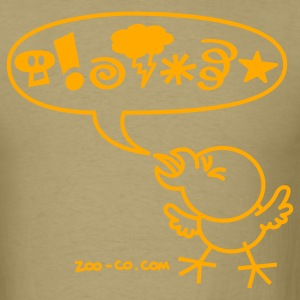 Khaki Rude Chicken T-Shirts - Men's T-Shirt