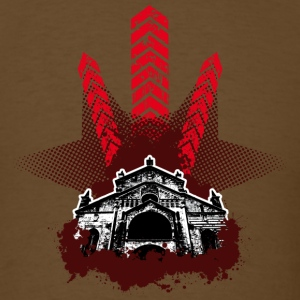 Brown Stars and Buildings T-Shirts - Men's T-Shirt