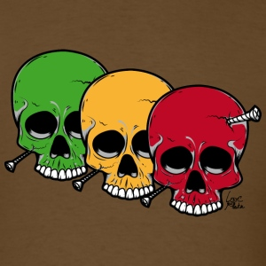 Brown 3 Traffic Skulls T-Shirts - Men's T-Shirt