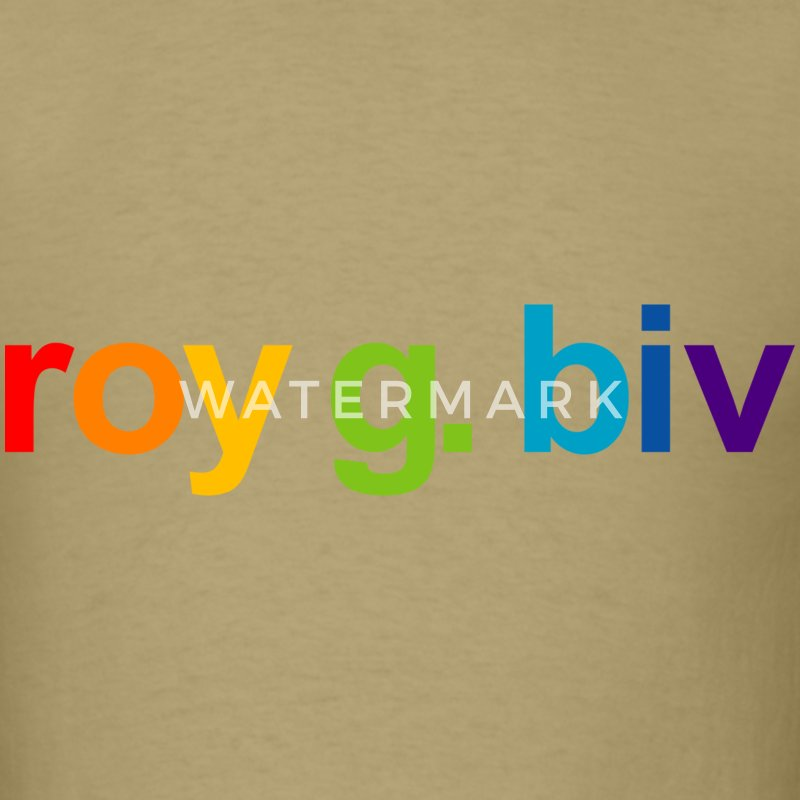 Khaki roy g. biv T-Shirts - Men's T-Shirt