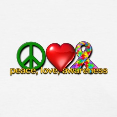 Peace, love, autism awareness