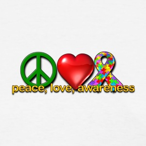Peace, love, autism awareness - Women's T-Shirt