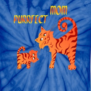 PurrFect Mom - Unisex Tie Dye T-Shirt