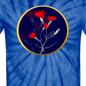 Carnations In A Circle - Unisex Tie Dye T-Shirt