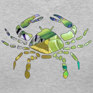 Gray CANCER The CRAB Women's T-shirts - Women's V-Neck T-Shirt