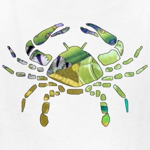 White CANCER The CRAB Kids Shirts - Kids' T-Shirt