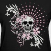 Black Vintage Girly Skull Women's T-shirts - Women's T-Shirt