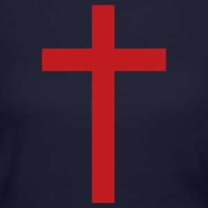 Navy Simple Cross Long sleeve shirts - Women's Long Sleeve Jersey T-Shirt