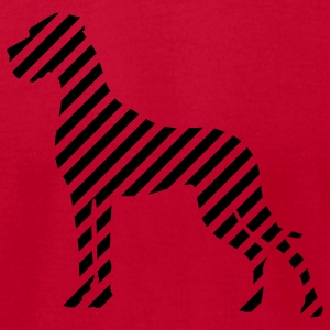 Red Great dane Stripes T-Shirts - Men's T-Shirt by American Apparel