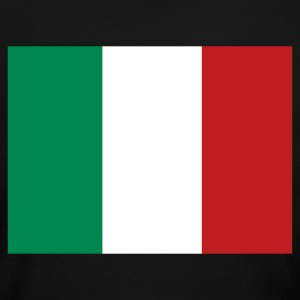 Black Italian Flag Long Sleeve Shirts - Women's Long Sleeve Jersey T-Shirt