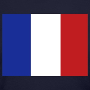 Navy French Flag Long Sleeve Shirts - Women's Long Sleeve Jersey T-Shirt