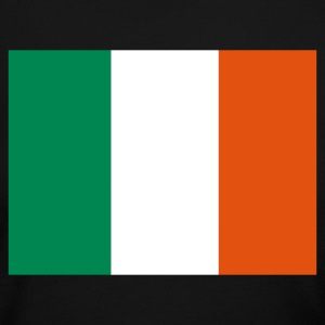 Black Irish Flag Long Sleeve Shirts - Women's Long Sleeve Jersey T-Shirt