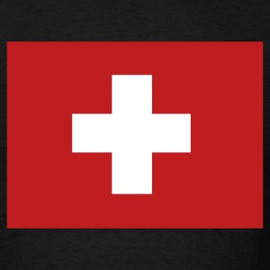 Black Swiss Flag T-Shirts - Men's T-Shirt