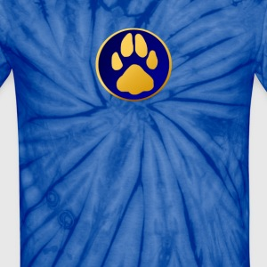 Golden Dog's Paw - Unisex Tie Dye T-Shirt