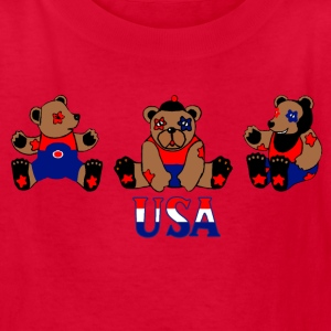 Red usa bears Kids' Shirts - Kids' T-Shirt