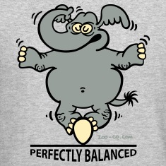 Heather grey Balanced Elephant Long Sleeve Shirts