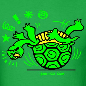 Bright green Unlucky Turtle T-Shirts - Men's T-Shirt