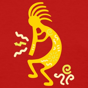 Red kokopelli_carving_american Women's T-Shirts - Women's T-Shirt