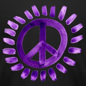 Purple Peace Sign - Men's T-Shirt by American Apparel