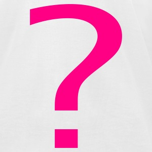 White Question Mark T-Shirts - Men's T-Shirt by American Apparel