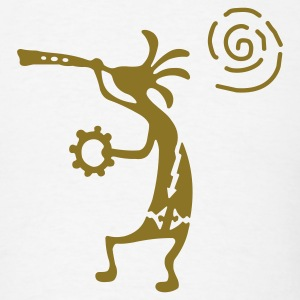White kokopelli_carving_sun T-Shirts - Men's T-Shirt