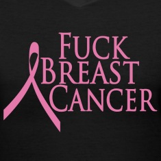 Black Fuck Breast Cancer Women's T-Shirts