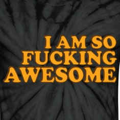 Spider black f_awesome T-Shirts