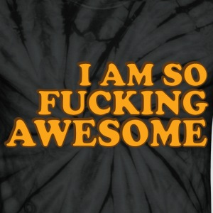 Spider black f_awesome T-Shirts - Unisex Tie Dye T-Shirt