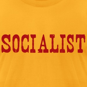 Gold socialist T-Shirts - Men's T-Shirt by American Apparel
