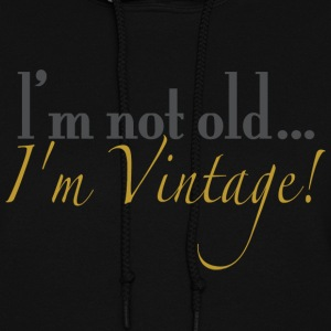 Black old_vintage Hooded Sweatshirts - Women's Hoodie