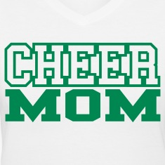 Cheer Mom V-Neck T-shirt
