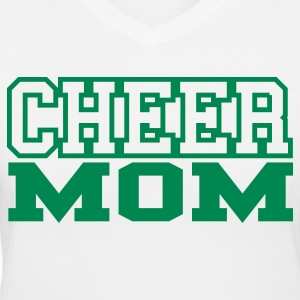 Cheer Mom V-Neck T-shirt - Women's V-Neck T-Shirt
