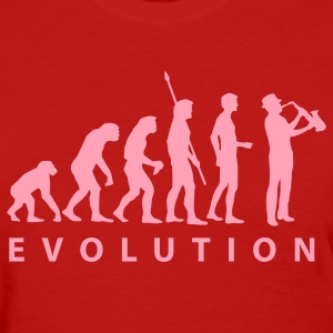 Red evolution_saxophon Women's T-Shirts - Women's T-Shirt