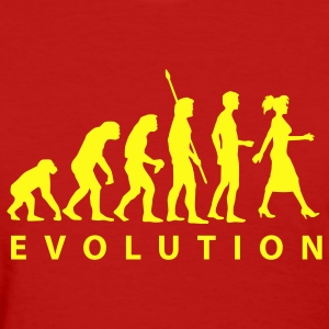 Red evolution_woman Women's T-Shirts - Women's T-Shirt