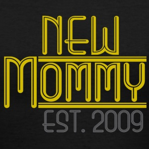 Black New Mommy Est 2009 Women's T-Shirts - Women's V-Neck T-Shirt