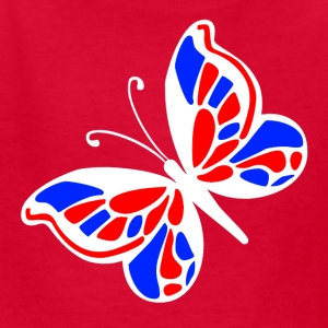 Red American butterfly Kids' Shirts - Kids' T-Shirt