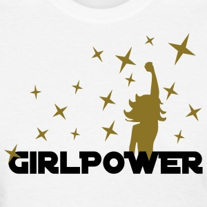 White Girl Power Stars 2 Women's T-Shirts - Women's T-Shirt