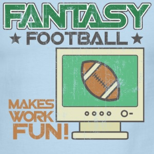 White/navy Fantasy Football Work T-Shirts - Men's Ringer T-Shirt