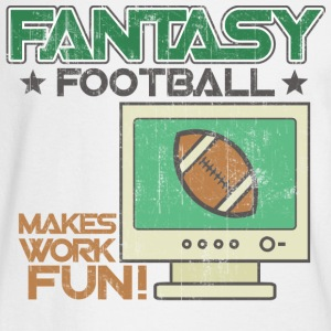 White Fantasy Football Work Long Sleeve Shirts - Men's Long Sleeve T-Shirt