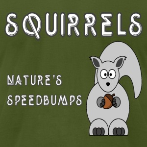 Olive squirrels T-Shirts - Men's T-Shirt by American Apparel