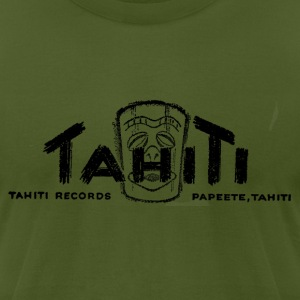 Olive Tahiti Records T-Shirts - Men's T-Shirt by American Apparel