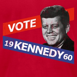 Light blue JFK Kennedy Retro  T-Shirts - Men's T-Shirt by American Apparel