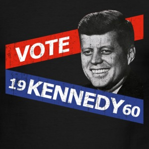 White/red JFK Kennedy Retro  T-Shirts - Men's Ringer T-Shirt