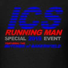 Black ICS Running Man  T-Shirts